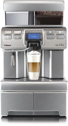 SaecoAulika TopOne Touch Cappuccino to automatyczny ekspres do kawy, który jest prosty w obsłudze i pozwala na przyrządzenie aromatycznej kawy cappuccino przy użyciu jednego przycisku.Wydajność do3000 kaw miesięcznie. Model do średniej wielkości biura.