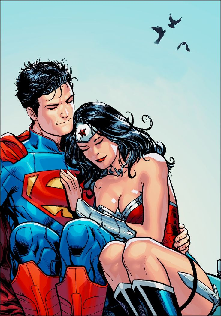 Wonder woman and superman married-2134