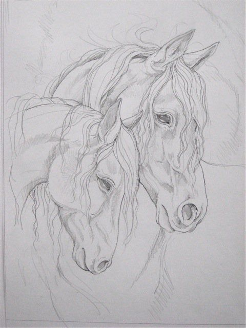Horses Paintings Of How To Draw Mom Day Horse Art
