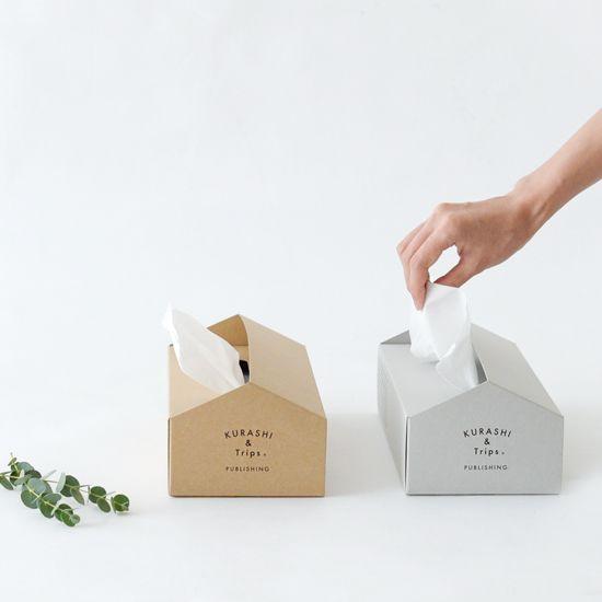 KURASHI&Trips PUBLISHING/オリジナルティッシュボックスケース(クラフト) - 北欧雑貨と北欧食器の通販サイト| 北欧、暮らしの道具店