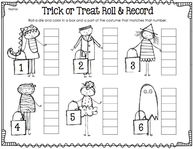halloween roll and record first grade math games - Online Halloween Math Games