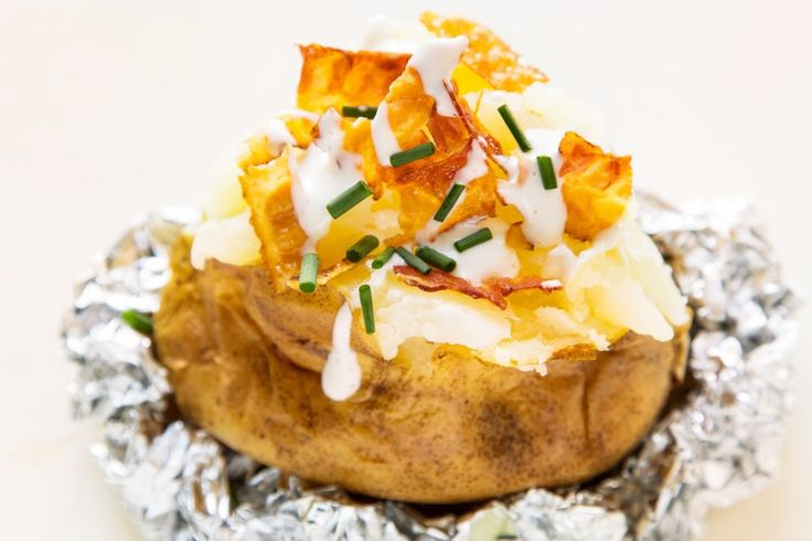 Bacon-Ranch Loaded Baked Potato