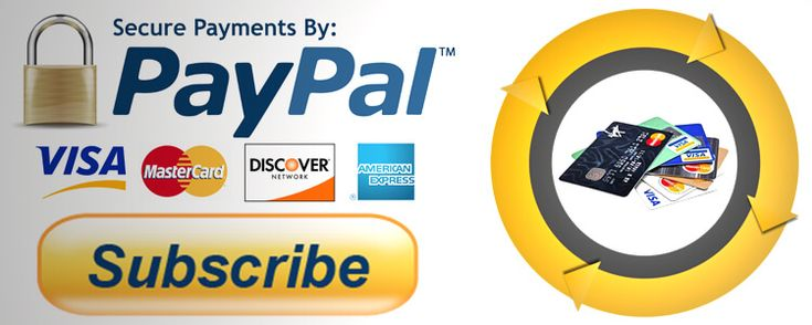 How to set up recurring paypal payments with a warning