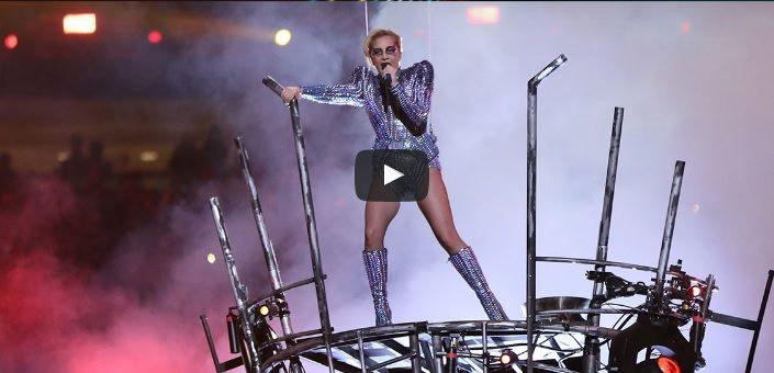 Lady Gaga toda una estrella en el evento de la Super Bowl