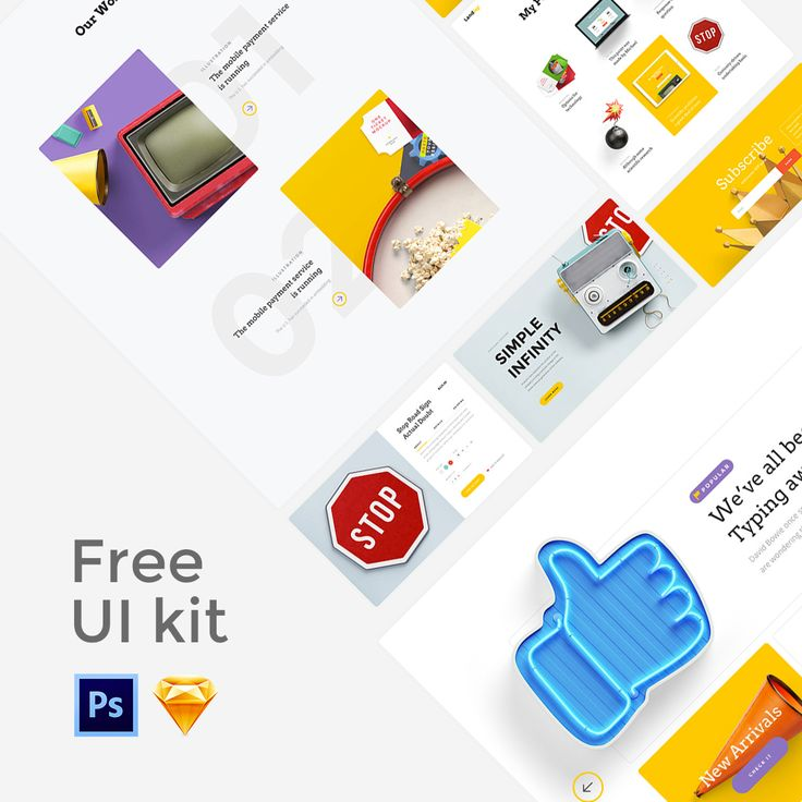 """다음 @Behance 프로젝트 확인: """"Free UI Kit   Landing"""" https://www.behance.net/gallery/38859005/Free-UI-Kit-Landing"""