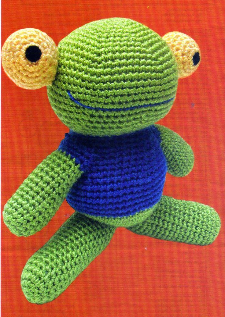 tejidos artesanales en crochet: sapo pepe tejido en ...