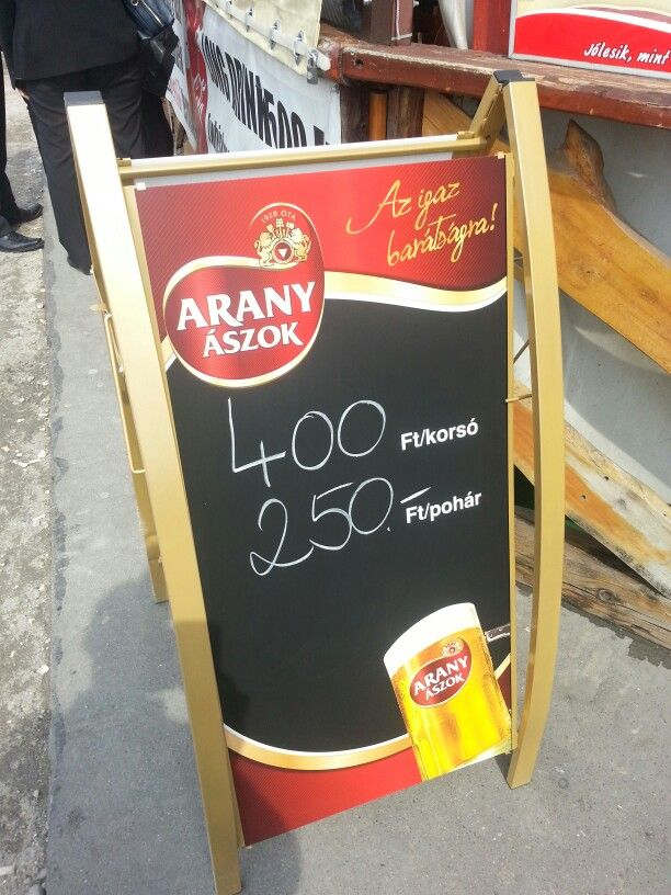 Beer from tap EUR 1.25 per 500ml