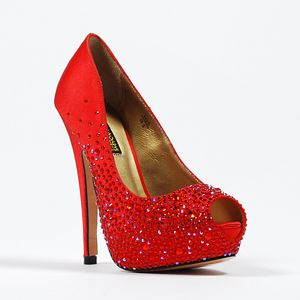 So freaking cute, but too expensive!! Grrr, where do I find knock-off's!! ;)  --benjamin adams salvador-red red  Wedding Shoes