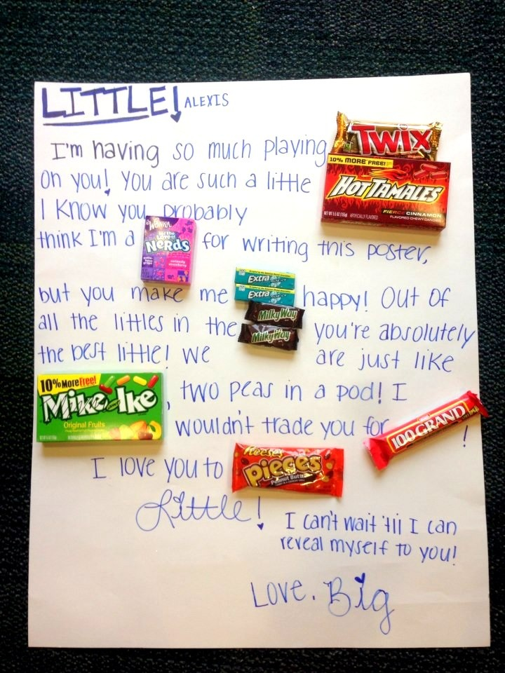 Big/Lil candy message
