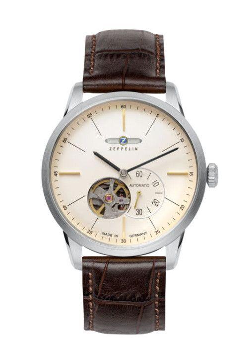 Luxusní pánské hodinky z kolekce Flatline, které na první pohled zaujmou nejen atypickým pohledem do srdce hodinek skrz ciferník, ale i mimost... Zeppelin Flatline 7364-5