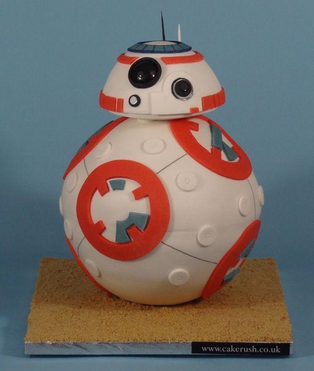 BB-8 cake tutorial