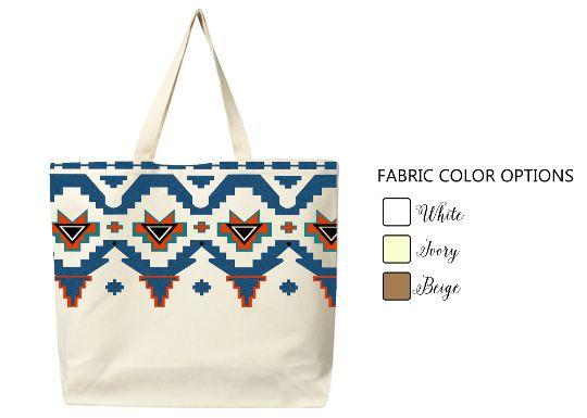 Aztec Tote Bag Market Shopping High Grade Cotton Canvas Bag Designer Bag Geometric Bag