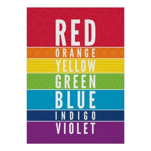 Bold Educational Classroom Rainbow Color Art Chart Zazzle Com