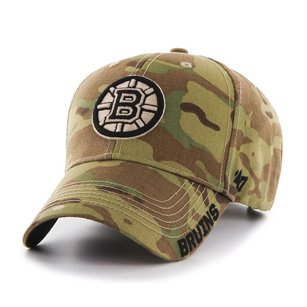 0e066cd761a408 Boston Bruins Myers MVP Multicam 47 Brand Adjustable Hat - Detroit Game Gear