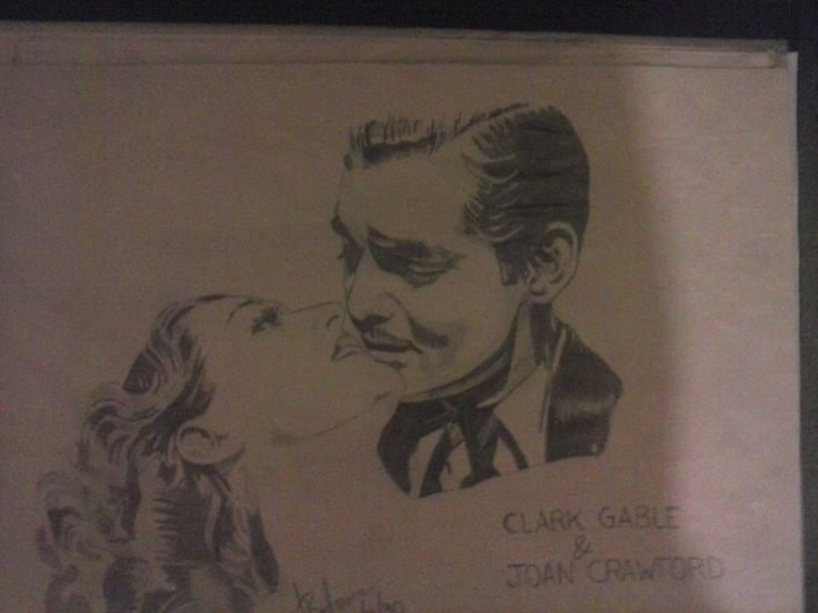 Clark Gable And Joan Crawford Artist : Jackie bateman