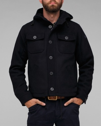 Wool/Poly blend Barrow CPO Jacket In Navy by Spiewak. Via Need Supply Co.
