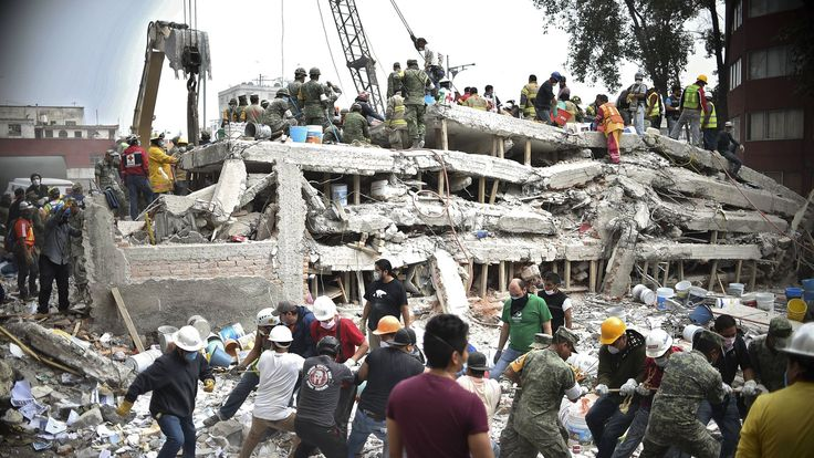 Many are still trapped in the rubble after a major earthquake rocked central Mexico on Tuesday.
