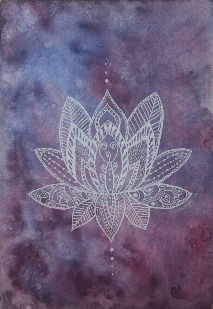 watercolor lotus flower by ambervanest                                                                                                                                                                                 More