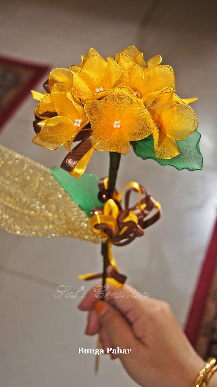 Tamarind Yellow Hydrangeas Bunga Pahar/telur, stocking flower.