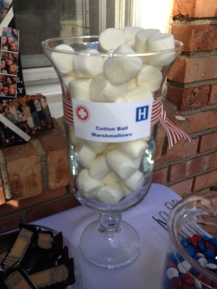 Marshmallows cotton balls