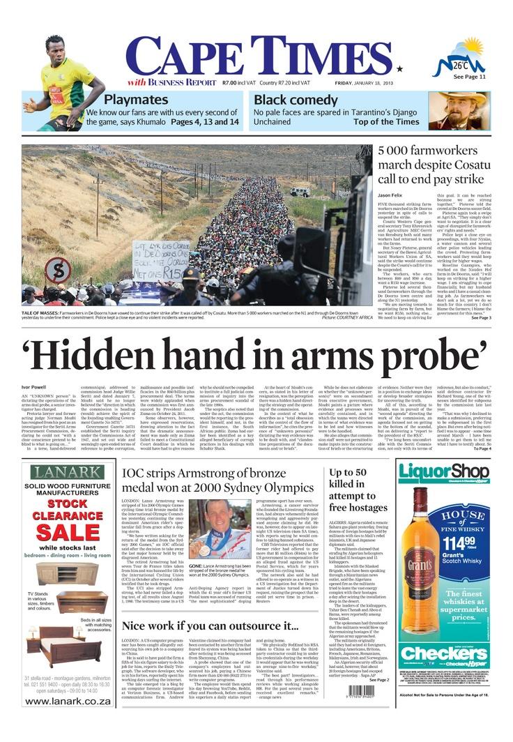 News making headlines: 'Hidden hand in arms probe'