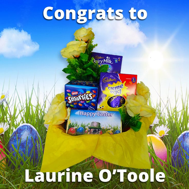 Congratulations to our Chocolate Hamper winner - Laurine O'Toole! :D