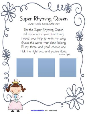 78+ images about Teaching - RHYMING on Pinterest | Songs, Word ...