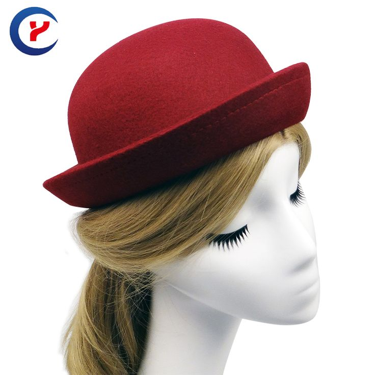 2017 New fashionable formal bowler hats for women and men red black party wearing unisex fedoras hat #170425_x131