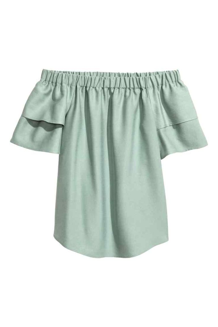 Camicetta in misto lyocell  - Verde menta - DONNA | H&M IT