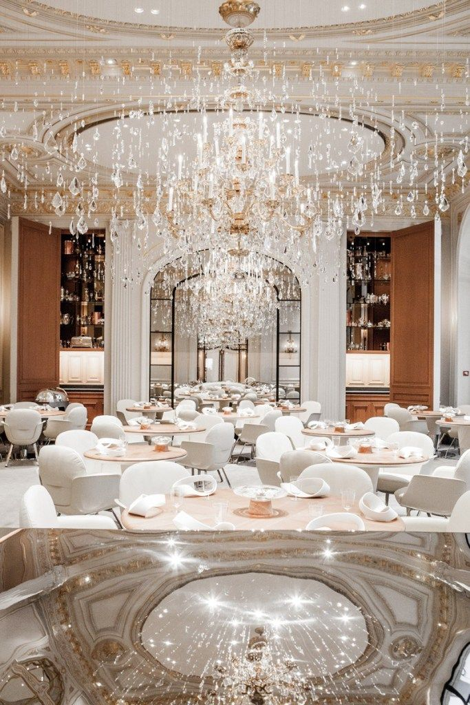 Restaurant at The Hotel  Plaza Athénée by Jouin Manku