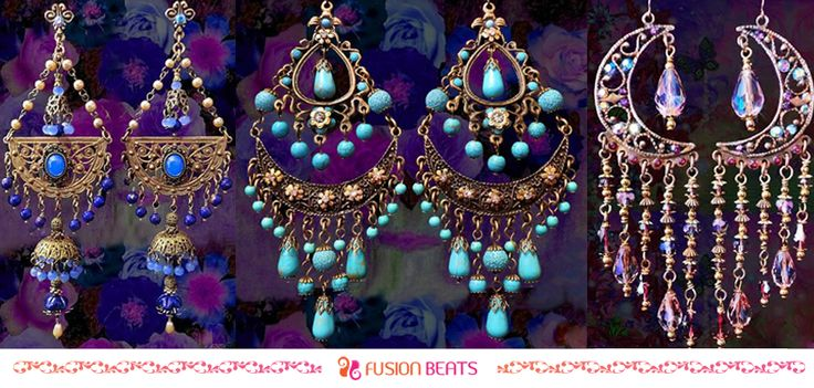 Gypsy earrings are bright and beautiful. It instantly adds zing to your look.