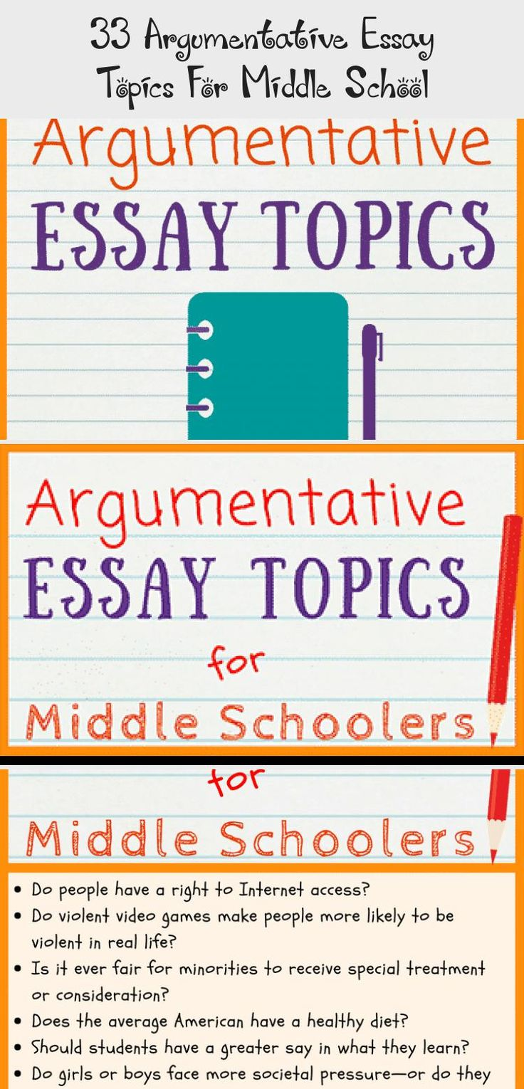 With these 33 new argumentative essay topics for middle