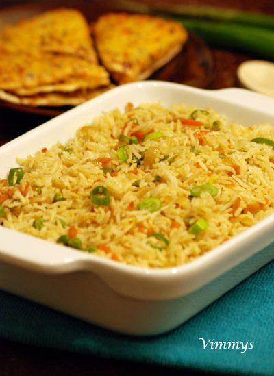 how to make chinese fried rice indian style
