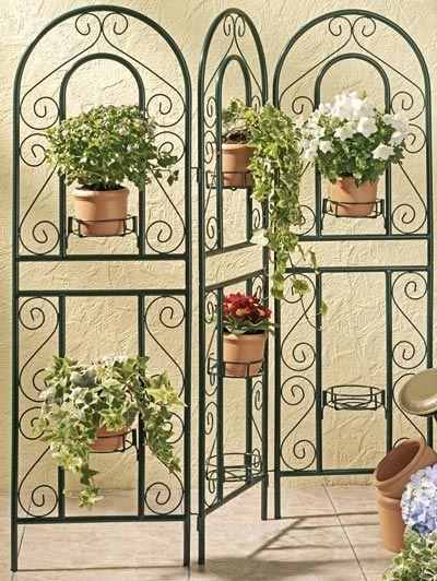 Best 25 porta macetas ideas on pinterest soportes de - Biombos para jardin ...