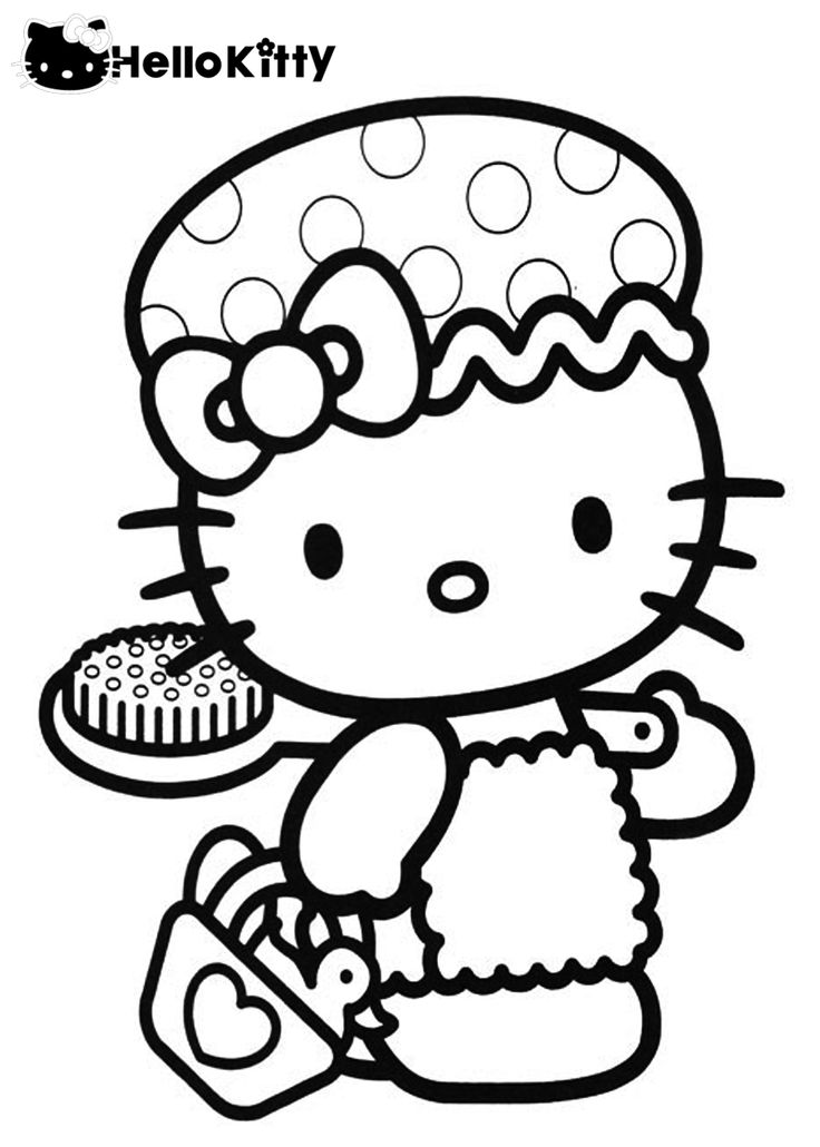 best hello kitty coloring pages - photo#12