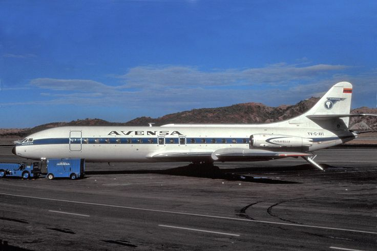 Avensa purchased jet equipment in the form of a single Sud Caravelle jet.On August 13th 1964 the plane was bought by Avensa and registered YV-C-AVI and leased to VIASA/PIASA  in June 1969 and returned to Avensa one year later. YV-C-AVI made a hard landing causing the undercarriage to fail. The aircraft was written off and scrapped soon after.