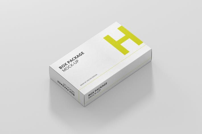 Download Package Box Mock Up Wide Flat Rectangle By Visconbiz On Envato Elements Box Packaging Packaging Mockup Box Mockup