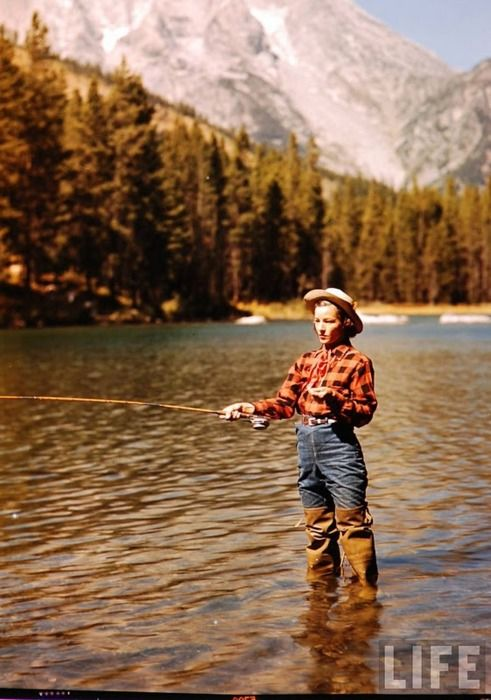 fishingTrout Fish, Mountain, Vintage Photos, Life Magazines, Tomboys Style, Camps, The Great Outdoor, Alfred Eisenstaedt, Fly Fishing
