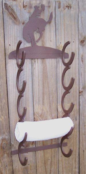 Horseshoe Towel Rack