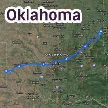 Oklahoma Route 66 Map