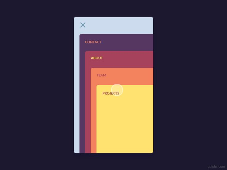 Cards Menu Concept by Gal Shir—The Best iPhone Mockups for Your Next Product → store.ramotion.com