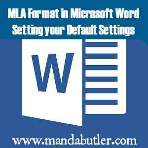 how to mla format microsoft word
