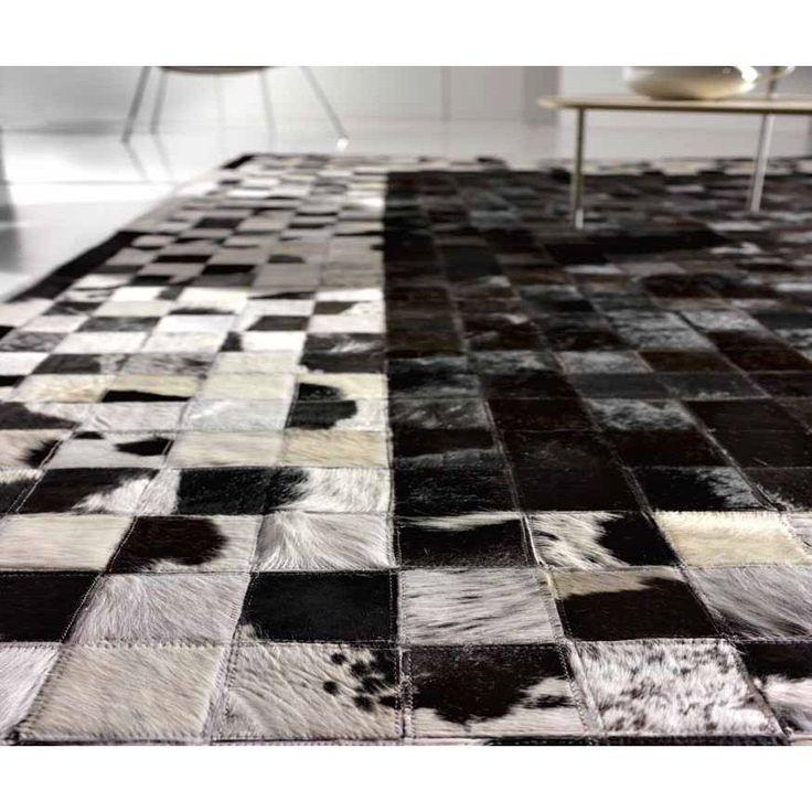 Ковер из шкур черно-белый CANYON BLACK-WHITE #carpet #carpets #rugs #rug #interior #designer #ковер #ковры #коврыизшкур #шкуры #дизайн #marqis
