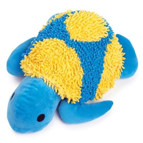 Grriggles Moppy Fabric Tropical Turtle Dog Toy, 16-1/2-Inch, Bluebird - Chew Toys #Dogs #Dog #Pets #Pet #Gift #Gifts #Christmas #Holiday #Holidays #Present #Presents #Accessories #Dog #Dogs #Chew #Toys #Toy