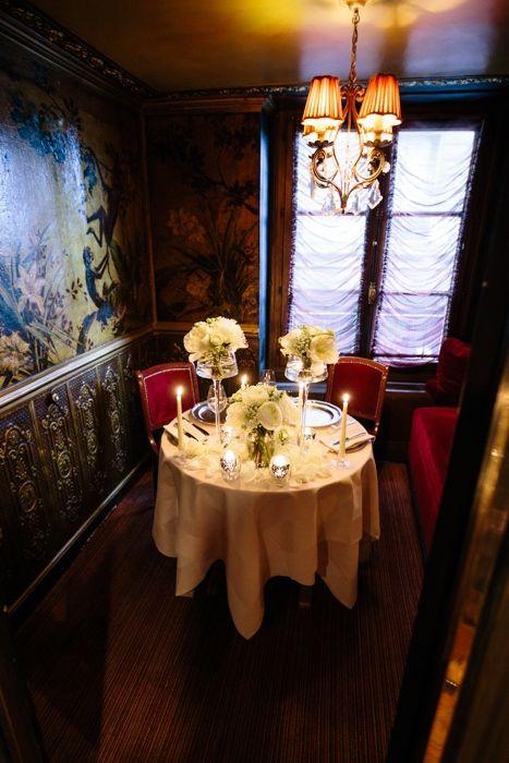 A romantic table setting for two (A Paris elopement)