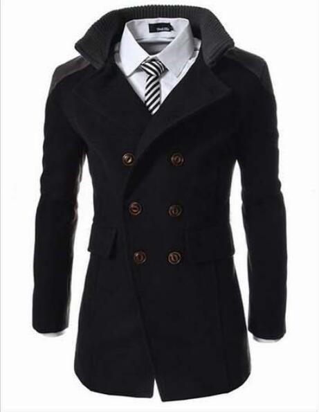 Men's Clothing Jackets & Coats 2018 Men Jacket Black Warm Winter Trench Long Outwear Button Smart Overcoat Men Stylish Formal Coats Sobretudo Puls Size Xxxl
