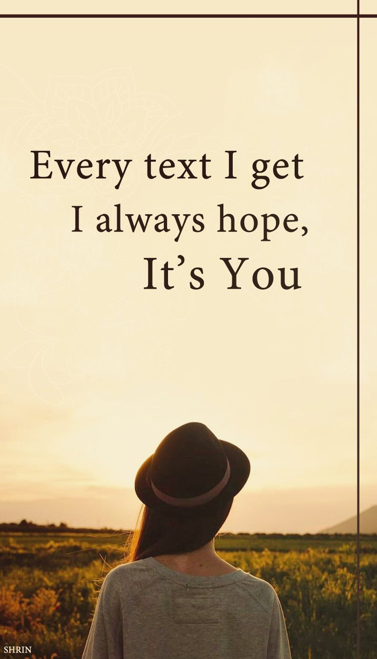 I hope, It's you ...