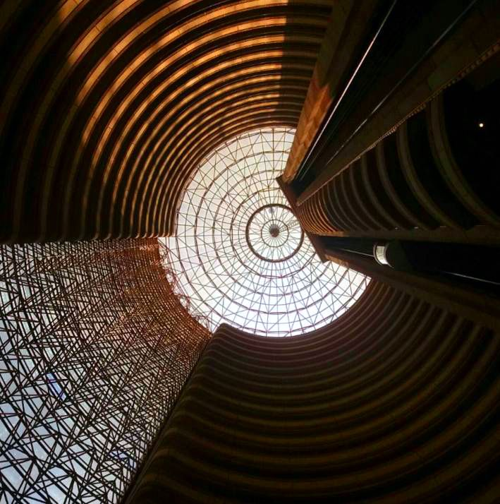 Get lost in the dynamic architecture and dramatic design when #lookingup at Grand Hyatt Santiago.