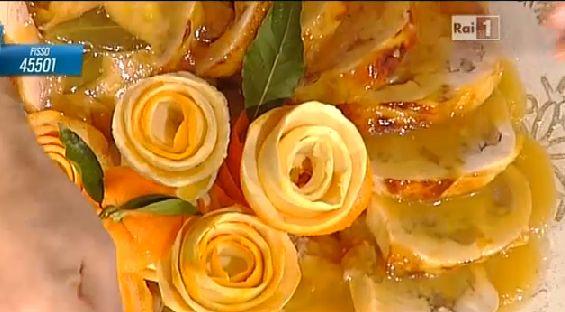 Ricette Sergio Barzetti: cappone al forno con castagne e arance