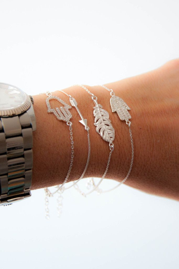 Arrow bracelet sterling silver by vivien frank designs